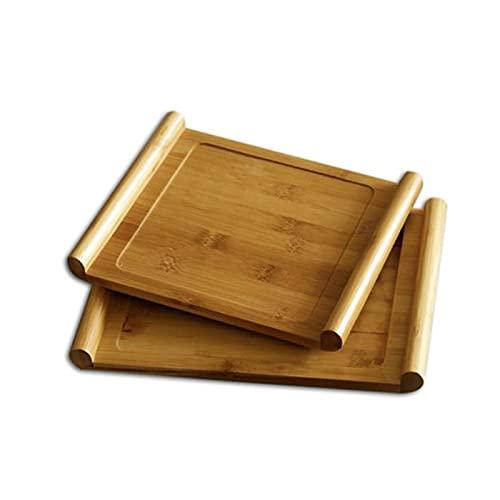 Hanpiyigtp Bandeja, Las bandejas de Madera de 1 UNIDS Son bandejas para el hogar con Asas, Que se Pueden Usar para Colocar Sushi y bandejas de Alimentos