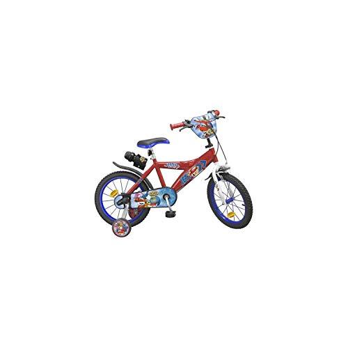 Pik&Roll Super Wings - Bicicletta da bambino, unisex, colore: Rosso