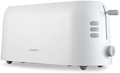 Kenwood True TTP210 4-Slice Toaster, variable browning control, cancel, reheat and defrost settings and removable crumb tray - White