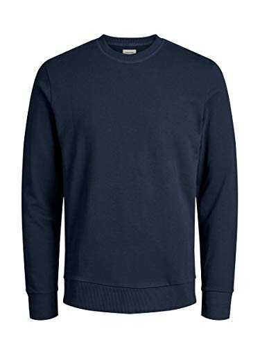 JACK & JONES Jjeholmen Sweat Crew Neck Noos, Suéter para Hombre, Azul (Navy Blazer), Large