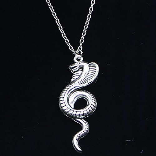 ZOJK Collar 49X19Mm Serpiente Colgantes Corto Largo Mujeres Hombres Colar Gargantilla Regalo De La Joyería