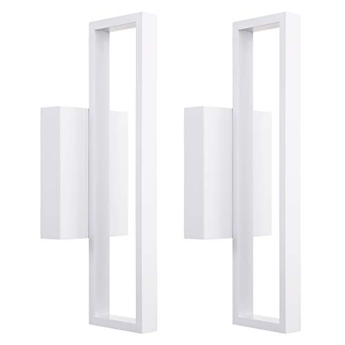 LEONLITE 12W LED Square Wall Sconce, Indoor Modern Wall Lights,...