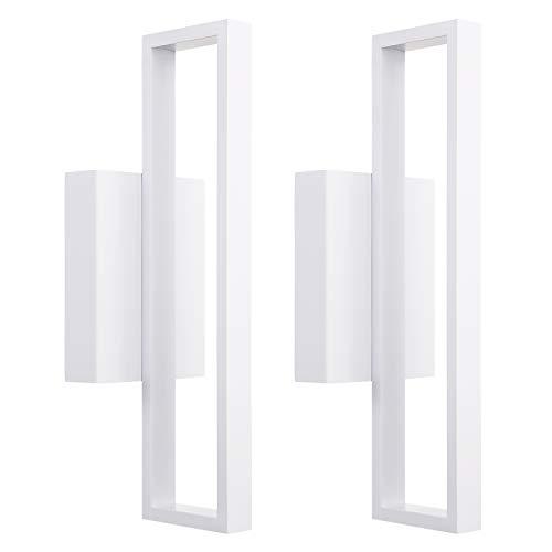 12W LED cuadrado aplique de pared, luces de pared LED, 75W incandescente equivalente, 660LM Ultra brillante superficie montado LED lámpara de pared, decoración de la habitación para oficina, sala de estar, recámara, pasillo, pasillo, 2unidades)
