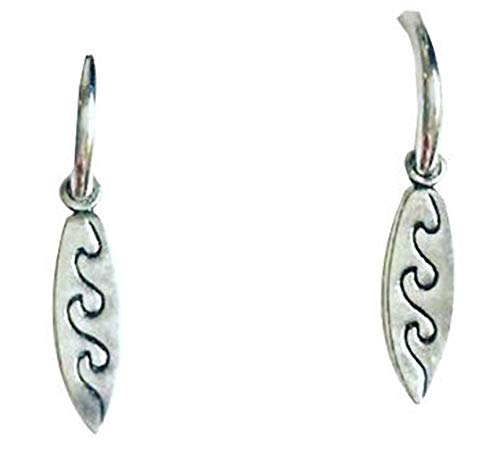 Pendientes de aro para hombre de plata de ley 925 con diseño azteca