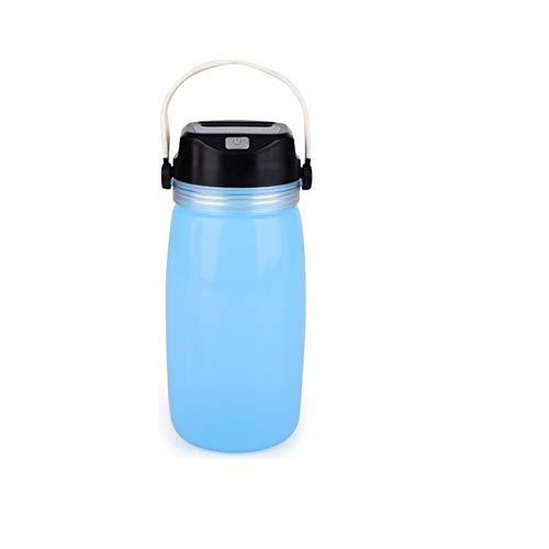 Zonne-Silica Gel Waterkoker Lampen Met USB Outdoor Opvouwbare Verlichting Water Fles,Blue,1pac