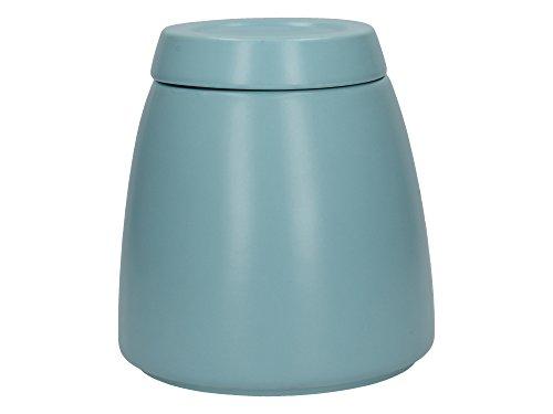 La Cafetière Barcelona 5225670 Boîte à sucre en céramique avec couvercle Bleu rétro 12,7 x 12,7 x 13,6 cm