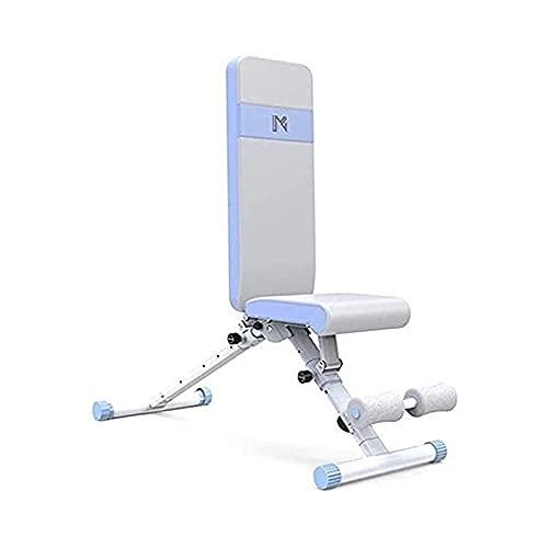JIAX Banco de pesas ajustable plegable multifunción con asiento inclinado para sentarse abdominal, banco de mancuernas abdominales, ejercicio para cuerpo completo