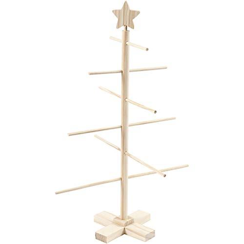 Árbol de Navidad. Alto: 60 cm. Ancho: 40,5 cm, de madera de pino, 1 unidad