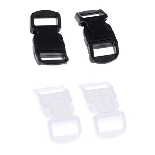 Sharplace 40pcs Boucles Réglables Fermeture à Clip en Plastique Accessoires d'Équitation Durable
