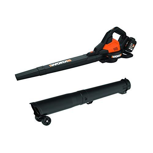 WORX WG583 40V Power Share Cordless Blower/Vac/Mulcher, Black and Orange