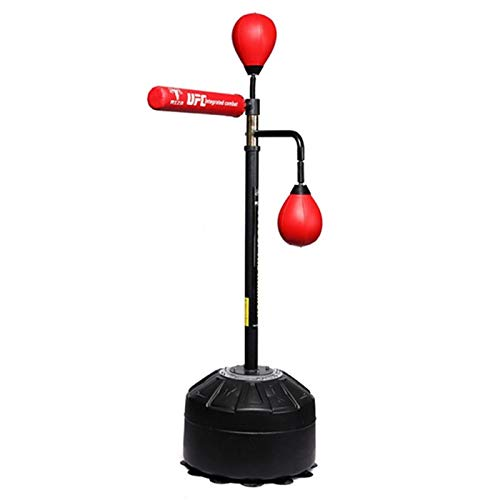 Boxen Speed Reaction Ball Rotierendes Ziel Reflex Ball Cobra Bag Freistehender Boxsack Speed Bags Adult Training Reaktionsball (Color : Red, Size : 50 * 50 * 190cm)
