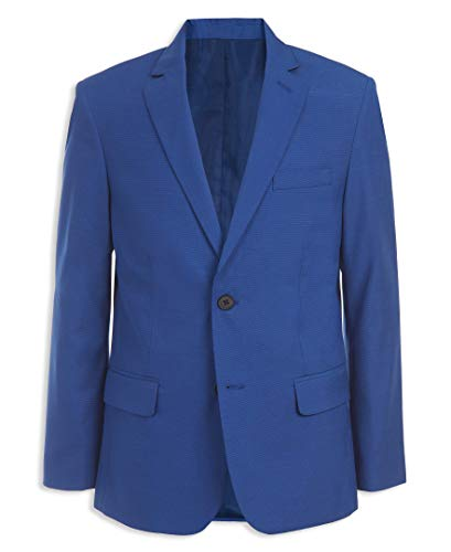 Calvin Klein Boys' Big Patterned Blazer Jacket, Bold Blue, 12