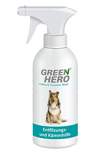 Green Hero Entfilzungs und Kämmhilfe für Hunde und Katzen Entfilzungsspray Entwirrungsspray...