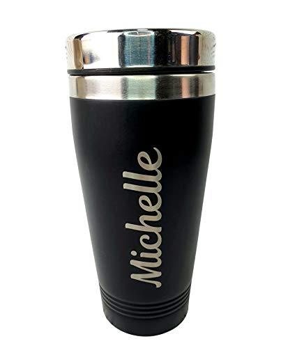 Personalised Travel Mug Engraved Reusable Coffee Cups Personalised Mugs...