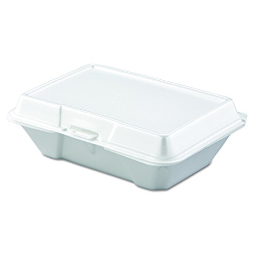 Dart 205HT1 All Purpose Perforated Foam Hinged Container, 9 X 6 in (Case of 200)