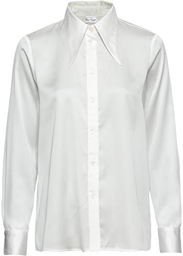 bonprix Schöne Bluse mit tollem Kragen und aus leicht glänzendem Material weiß 44 für Damen