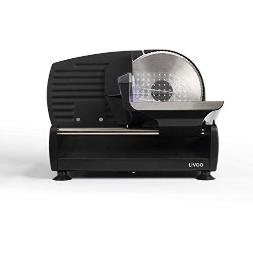 Allesschneider Brotschneidemaschine Elektrisch Edelstahl Klinge (Aufschnittmaschine, Schneiddicke 0-15 mm, Wellenschliff, Fester Stand, Elektromesser)