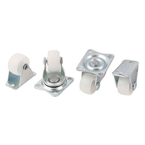 sourcing map Rollen-Set, 25 mm Durchmesser, drehbar, auf Metallplatte (1 Set mit 4 Rollen) de