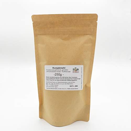 TOPFRUITS Konjakmehl 250g getrocknete Konjakwurzel gemahlen, besonders sättigend