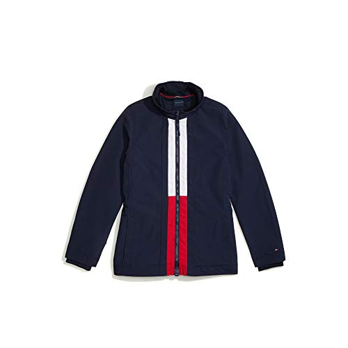 Tommy Hilfiger Damen ADP W Brianna Tiffany Jacket Jacke, Masters Navy/Bright White-pt/Tango Red-Pt, Small