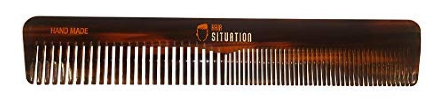 名門なぞらえる有力者Men Hair Comb ? Full Size, Handmade Tortoise Shell Design, Split Between Fine and Medium Tooth, Anti-Static & No Snag For A Gentle Treatment For Head Hair, Scalp, Beard & Mustache. By Hair Situation [並行輸入品]