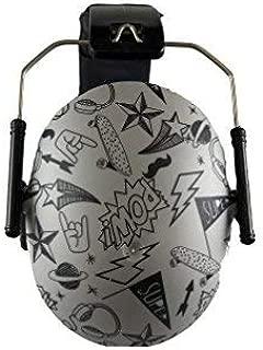 BANZ Earmuffs Hearing Protection – The Best Earmuffs for Kids – Premium Kids Ear Muffs - Block Noise (Grey Doodle)