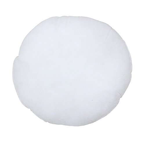 Riva Paoletti Hollowfibre Cushion Pad Insert Inner- Round Circle Shape - 100% Polyester Filling - Double Stitched Edges - 50 x 50 x 12cm (20' x 20' x 5' inches) - Designed in the UK