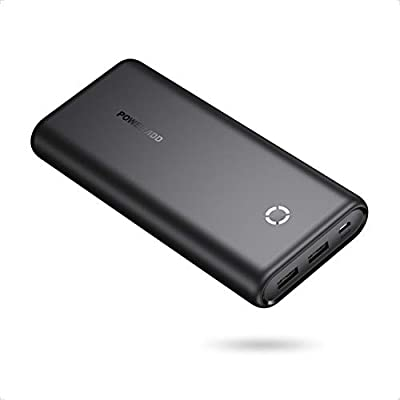 Poweradd EnergyCell 20000mAh Power Bank - External Battery Portable Charger Compatible with Huawei, iPhone, iPad, Samsung, Nexus, HTC, Nintendo Switch, Tablets and More-Black