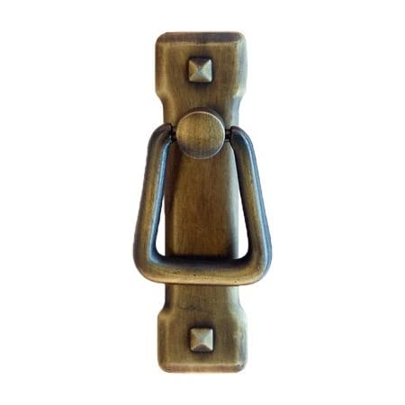 Small Antique Brass Vertical Mission Period Drawer Pull Handle | Antique Cabinet, Dresser Drawer Furniture Hardware | PM-203 (10)