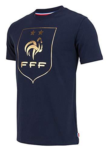 Equipe de FRANCE de football T-Shirt FFF - 2 étoiles - Collection Officielle Taille Adulte Homme L