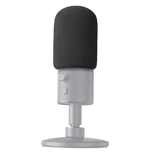 YOUSHARES Filtre Anti Pop Anti Vent en Mousse - Bonnette Pare-Brise s'adapte parfaitement avec Razer Seiren X Microphone
