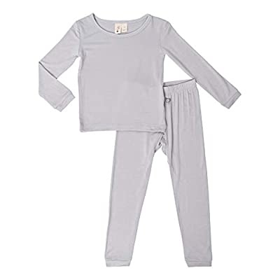 KYTE BABY Toddler Pajama Set - Pjs for Toddlers Made of Soft Bamboo Rayon Material (Storm, 18-24 Months)