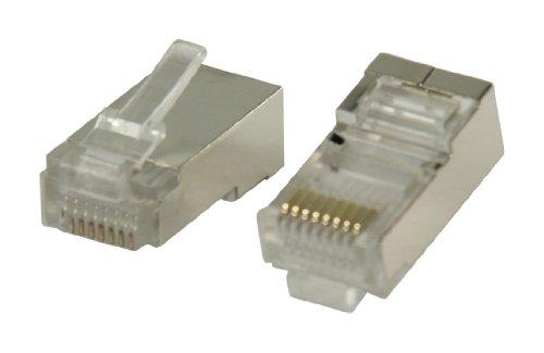 Valueline VLCP89303M Confezione Connettori RJ45 per Cavo STP CAT5, Argento, 10 Pezzi