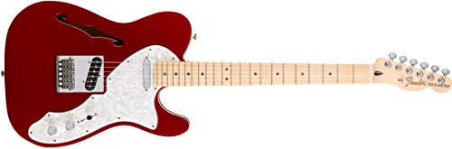 Fender 0147602309 Deluxe Telecaster Thinline Maple Griffbrett E-Gitarre, Candy Apple Red