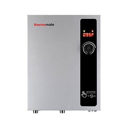Tankless Water Heater Electric 11kW 240 Volt, thermomate On Demand Instant Endless Hot Water Heater Digital Temperature Display Compact Easy Installation for Residential Ponit of Use