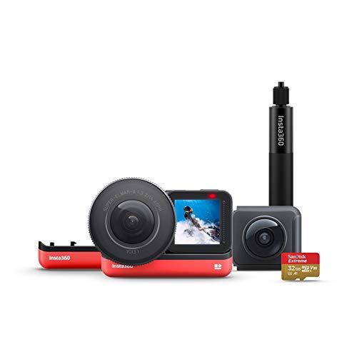 Insta360 ONE R Action-Kamera Wechselobjektiv mit FlowState Stabilization - IPX8 Wasserdicht Stimmenkontrolle 5.3K + 360 (ONE R Ultimate kit)