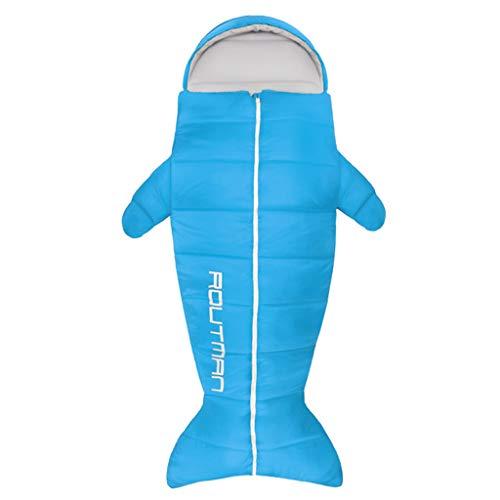 HJHHJHAB Schlafsäcke für Erwachsene Penguin Schlafsack Ultraleichte wasserdicht für Reisen, Camping, Wandern, Innen-und Outdoor-Aktivitäten 4 Saison,Blue-2.15kg(0~5℃)