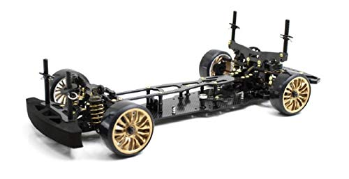 ABSIMA 12102 12102 Absima 1 10 RC Elektro Auto Drift Onroad DRR 01 Black 2WD Rolling Chassis, Mehrfarbig*