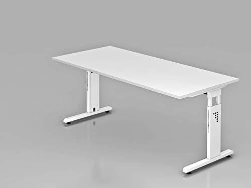 HAMMERBACHER VOS19/W/W Schreibtisch 180cm weiß