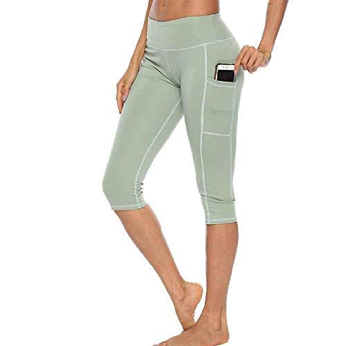 N\P Pantalones de Jogging de Cintura Alta para Mujer de Fitness Leggings con Bolsillos Laterales Ropa Deportiva