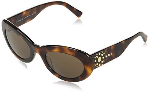 Versace 0VE4355B Gafas de sol, Havana, 52 para Mujer