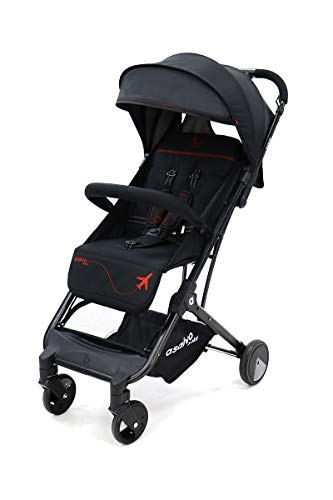 Asalvo 18588 - Silla De Paseo Flight Black Red, Negro Rojo, Unisex