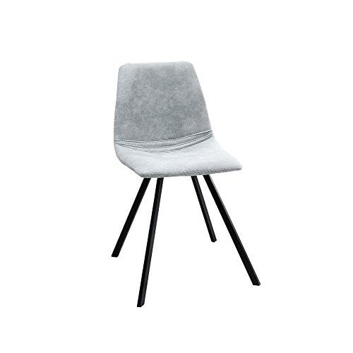 Invicta Interior Retro Stuhl Amsterdam Chair Stone grau Designklassiker Esszimmerstuhl Konferenzstuhl