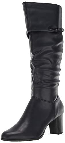 Easy Street Women's Tessla Mid Calf Boot, Navy, 7.5 M US