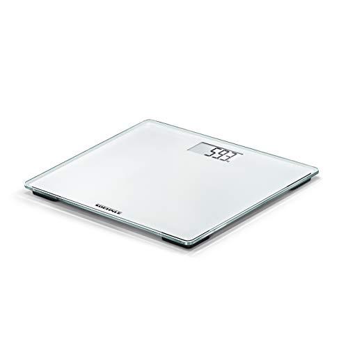 Soehnle Style Sense Compact 200 Báscula digital, peso de baño en tamaño compacto, báscula corporal con pantalla LCD fácilmente legible, báscula plana