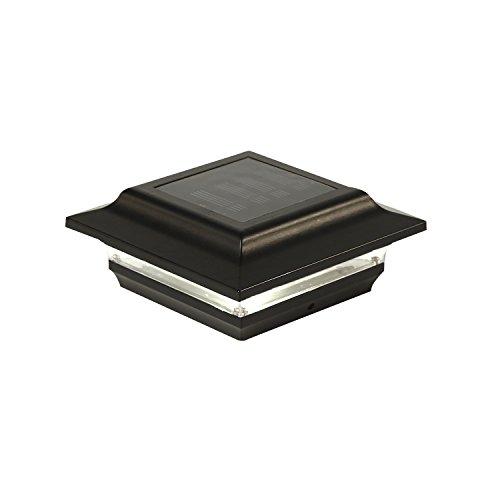 Classy Caps SL211B 4X4 Black Aluminum Imperial Solar Post Cap, 4' x 4'