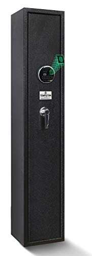 Templeton Quick Access Biometric Rifle and Gun Safe with Silent Mode - 4 Standard Rifle Capacity (Without Accessories)