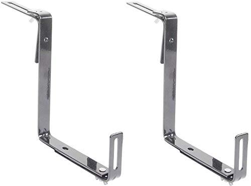 Alpfa 2 er Set Balkonkastenhalterung in grau - bis 45 kg Tragkraft