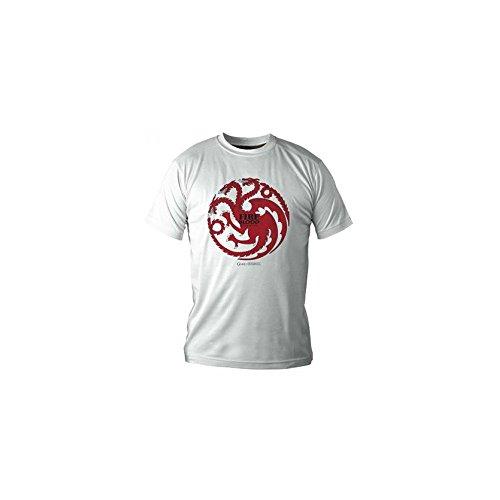 SD toys - T-Shirt Game of Thrones - Targaryen Blanc Homme Taille S - 8436541021198