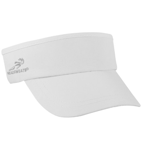 Headsweats Woven SuperVisor Performance Running/Outdoor Sports Visor, White, One Size Fits All